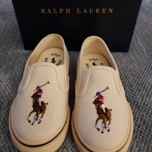 Ralph Lauren toddler boys size 6 canvas slipons